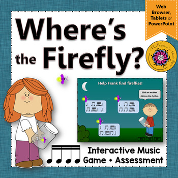Rhythm Game: Sixteenth Notes Interactive Music Game + Assessment {Firefly}