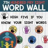 Seventh Fry Sight Words - High Five Word Wall