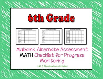 Sixth Grade AAA Math Checklist Progress Monitoring