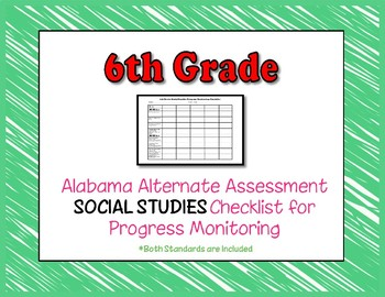 Sixth Grade AAA Social Studies Checklist Progress Monitoring