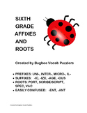 Sixth Grade Affixes and Roots Puzzles