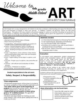 Middle School Art Syllabus