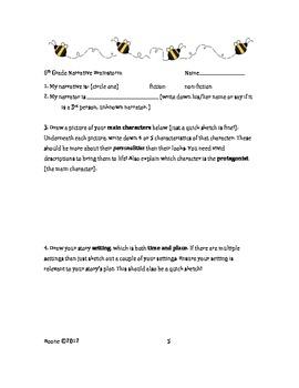 Sixth Grade Bundle: Common Core Narrative and Opinion Writing (*NO PREP)