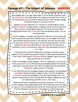Sixth Grade Cloze Reading Passages Set C (Passages 21-35)