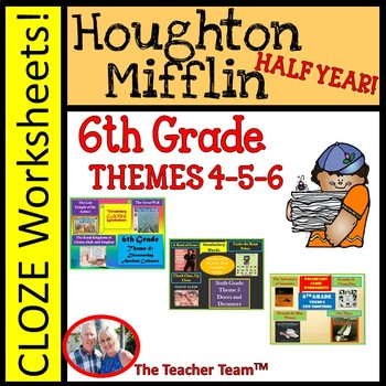 Houghton Mifflin Sixth Grade Cloze Worksheet  Half Year Bu