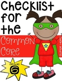 Sixth Grade Common Core Checklist
