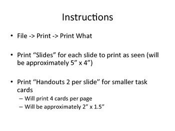 """Sixth Grade Common Core """"I Can"""" Task Cards"""