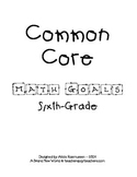 Sixth Grade Common Core Math Goals Set