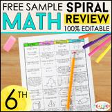 6th Grade Math Homework 6th Grade Spiral Math Warm Ups & B