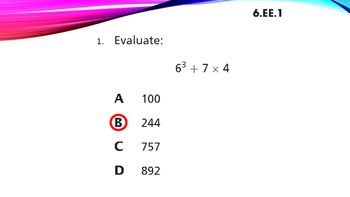 Sixth Grade Common Core Math Test Review with NY State Released Questions 2013