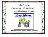 Sixth Grade Common Core Math Vocabulary Game