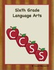 Sixth Grade Common Core Organizer Package