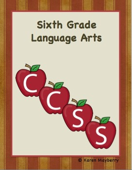 Sixth Grade Common Core Organizer Package (Word)