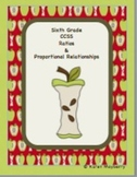 Sixth Grade Common Core Planning Template and Organizer fo