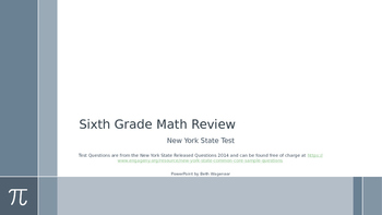 Sixth Grade Common Core Math Test Review with NY State Released Questions 2014