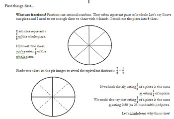 Sixth Grade Converting Fractions to Decimals
