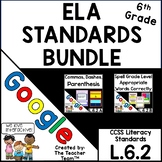 Sixth Grade Grammar  Skills ELA Practice Bundle L.6.2 for