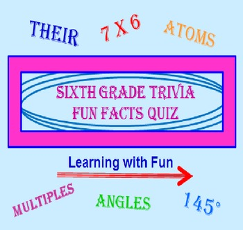 Sixth Grade FREE Trivia Fun Facts PowerPoint PREVIEW