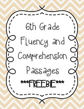 Sixth Grade Fluency Bundle