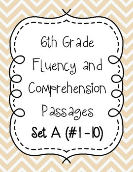 Sixth Grade Fluency and Comprehension Passages Set A (Passages 1-10) DORF