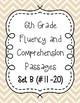 Sixth Grade Fluency and Comprehension Passages Set B (Passages 11-20) DORF