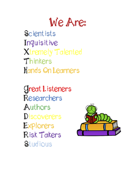 Sixth Grade Growth Mindset Poster