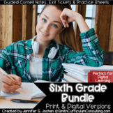 Sixth Grade Guided Cornell Notes | Distance Learning | Pri