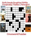 Houghton Mifflin Reading 6th Grade Crossword Puzzles Full Year