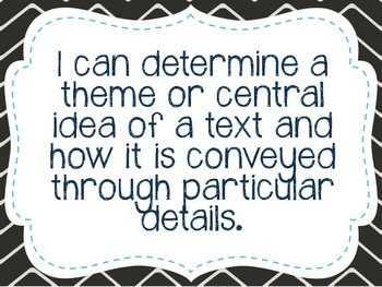 """Sixth Grade """"I Can"""" Statements LAFS & Common Core Reading"""