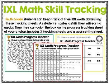 Sixth Grade IXL Math Tracking