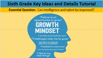 Sixth Grade Key Ideas and Details Tutorial