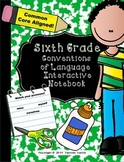 Sixth Grade Language Conventions Interactive Notebook (Common Core Aligned)