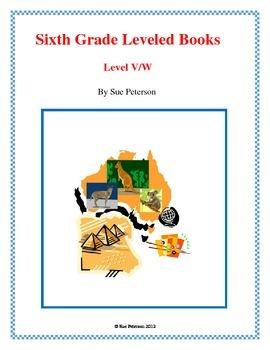 Sixth Grade Leveled Books:  Level V/W