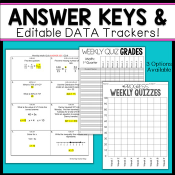 6th Grade Math Assessments | 6th Grade Math Quizzes EDITABLE