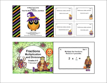Sixth Grade Math Bundle-Halloween Theme