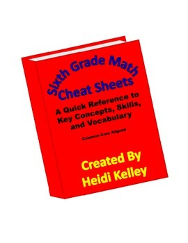 Sixth Grade Math Cheat Sheets: Key Concepts, Skills and Vocabulary