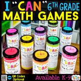 6th Grade Math Games BUNDLE - ALL STANDARDS
