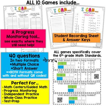 6th Grade Math Games | 6th Grade Math Review BUNDLE