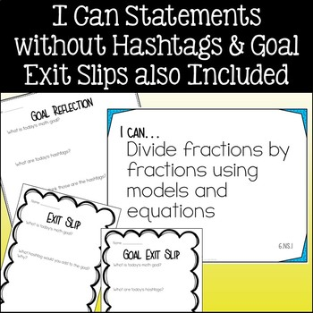 Sixth Grade Math I Can Statements Common Core Standards