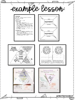 FREEBIE Sixth Grade Math Interactive Notebook Scope and Sequence