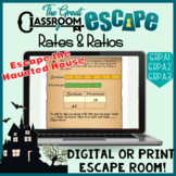 Sixth Grade Math Rates & Ratios Print or Digital Escape Room - Distance Learning
