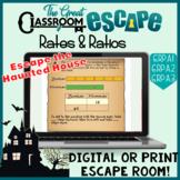 Sixth Grade Math Rates & Ratios Print or Digital Escape Ro