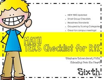 Sixth Grade Math TEKS Checklist