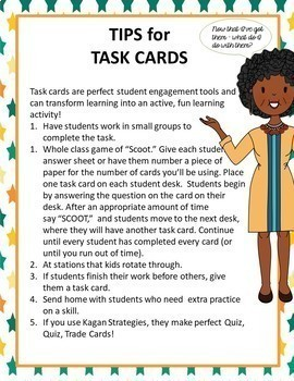 Task Cards  - Sixth Grade Ratios and Proportional Relationships