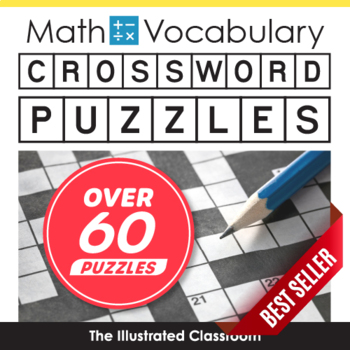 6th Grade Math Vocabulary Crossword Puzzles by The Illustrated Classroom