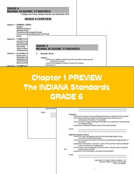 Sixth Grade Math:  Weekly Word Problems and Indiana Standards
