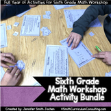 Sixth Grade Math Workshop Concept Based Activities | TEKS, CCSS, and OAS Aligned
