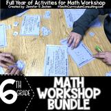 Sixth Grade Math Workshop Concept Based Activity Bundle  