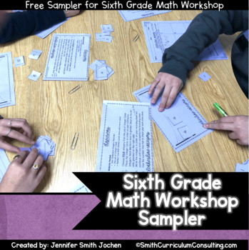 Sixth Grade Math Workshop Sampler