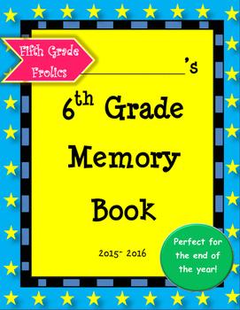 Sixth Grade Memory Book